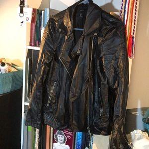 Black pleather Forever 21 Motorcycle jacket